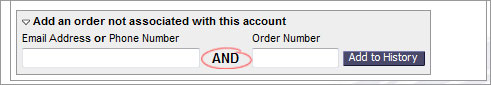 associate past orders with my account